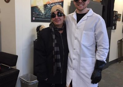 Dr. B and Zach Halloween