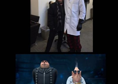 Dr. B and Zach - Gru and Dr. Nefario