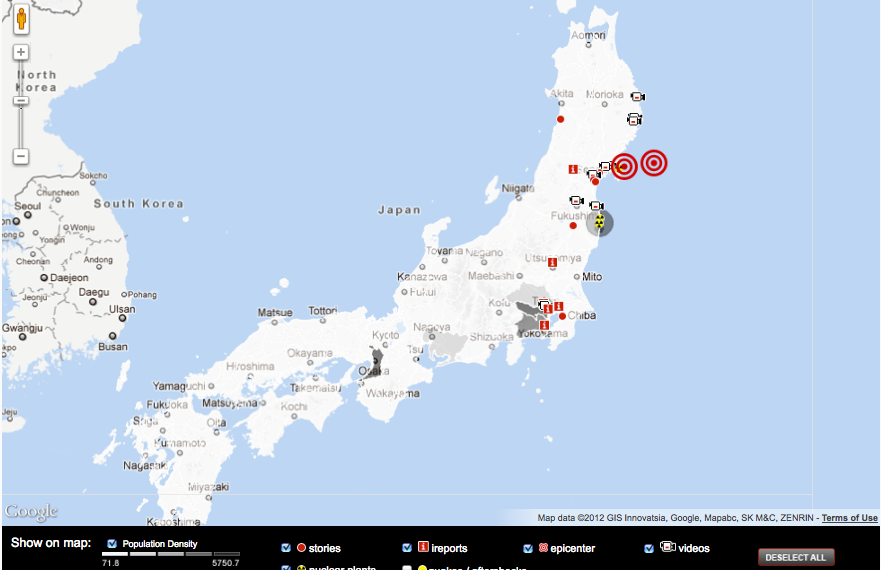 Japan S Triple Threat Crisis Interactive Map Geography 250