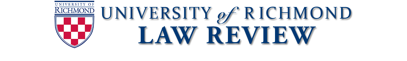 University of Richmond Law Review