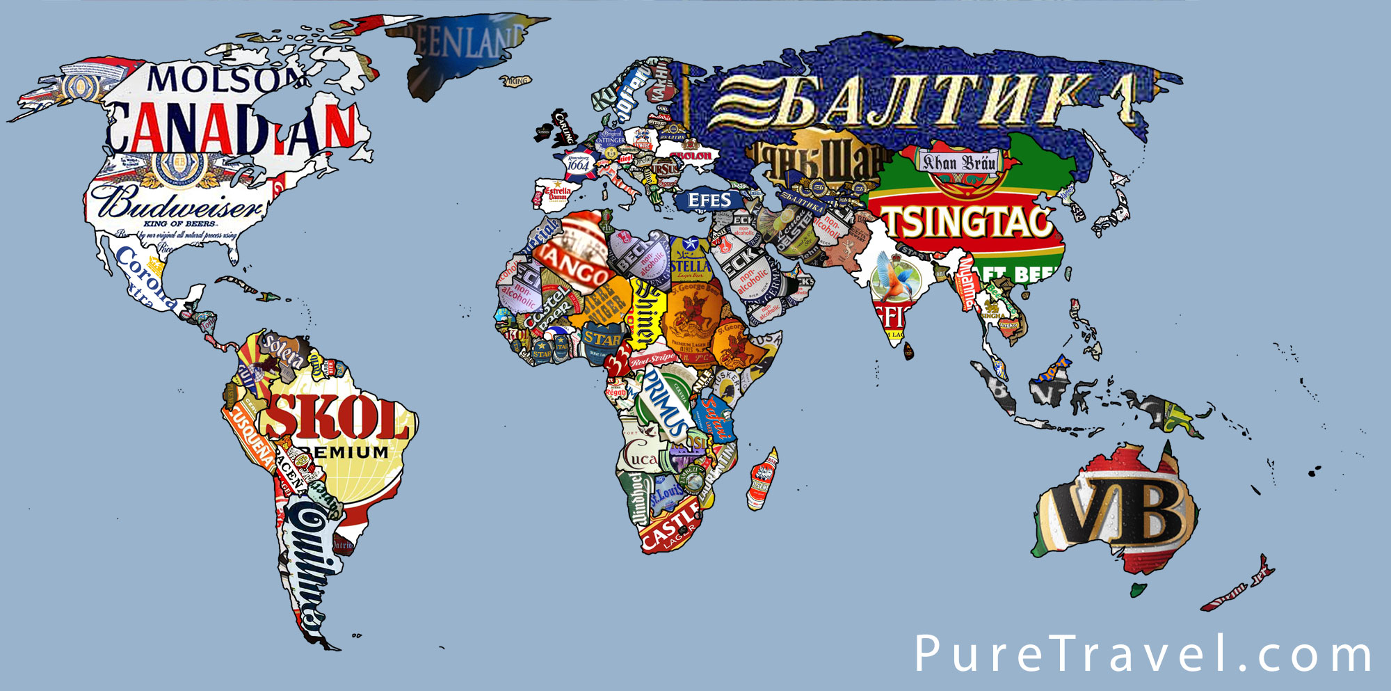 Map Of The Week Around The World In 80 Beers Mappenstance