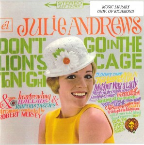 "Julie Andrews - ""Don't Go In The Lion's Cage Tonight"""
