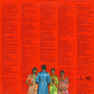 Sgt. Pepper back cover with lyrics