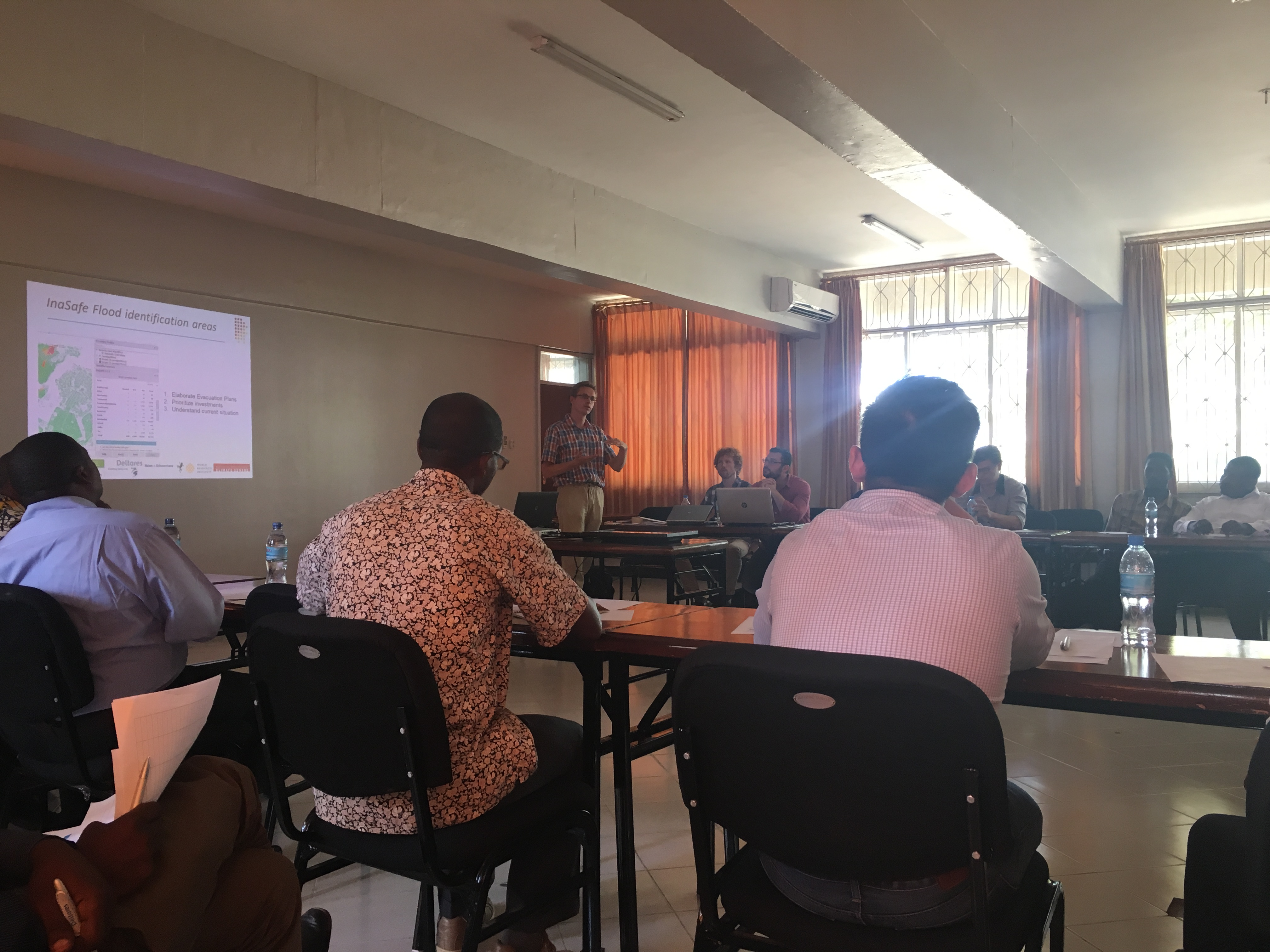 Sitting in on a World Bank Open Data presentation at the University of Dar es Salaam. Experts spoke about using new elevation data paired with updated Open Street Map data to better plan evacuation routes during floods in Dar and other cities in Tanzania