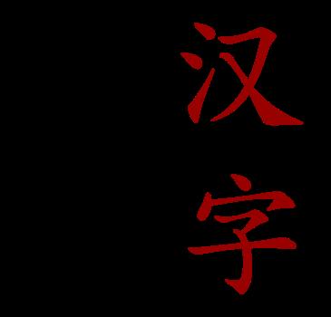 Chinese characters hanzi