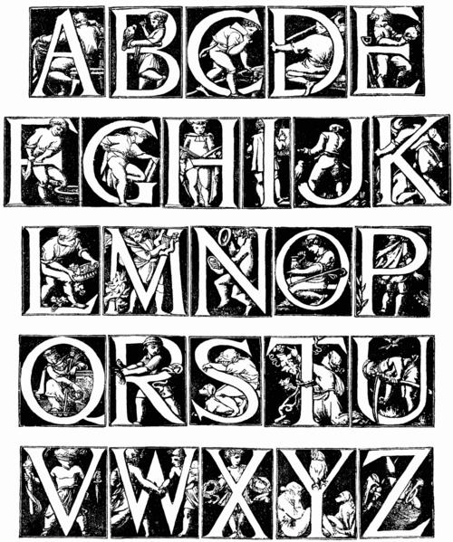 Alphabet - Godfrey Sykes