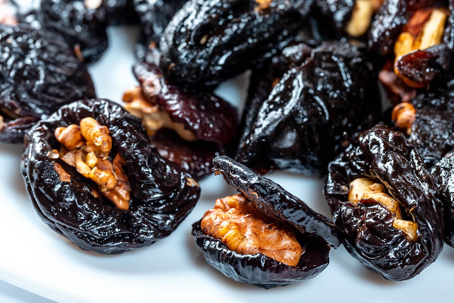 Prunes stuffed with walnuts