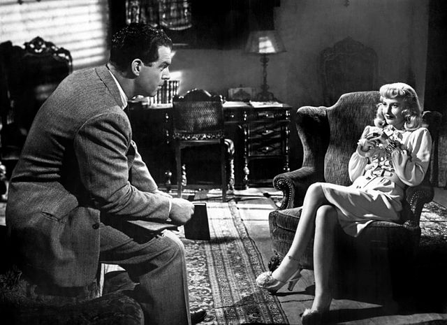 "Scene from film ""Double Indemnity"""