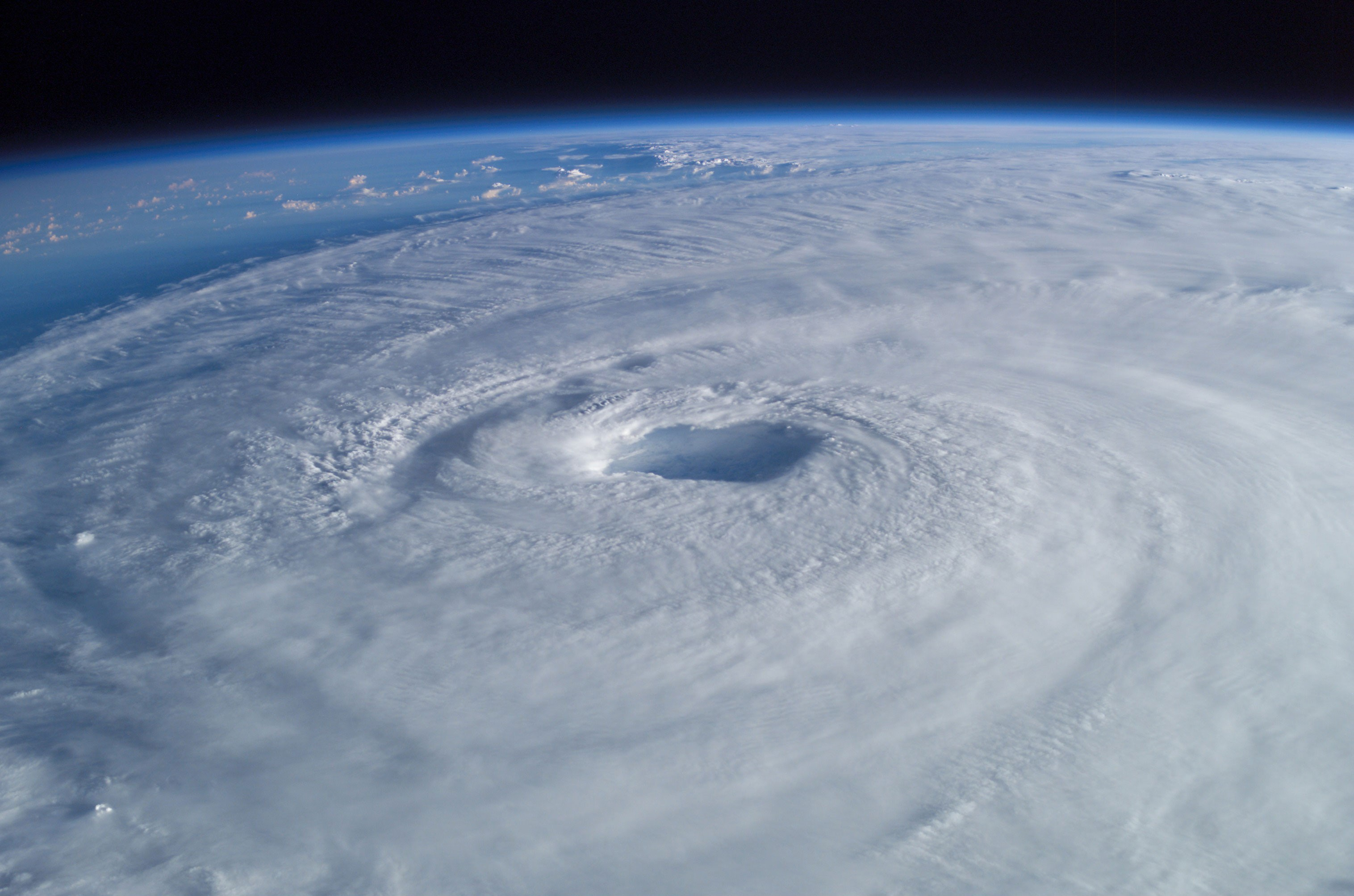 Eye of Hurricane Isabel, 2003, from space