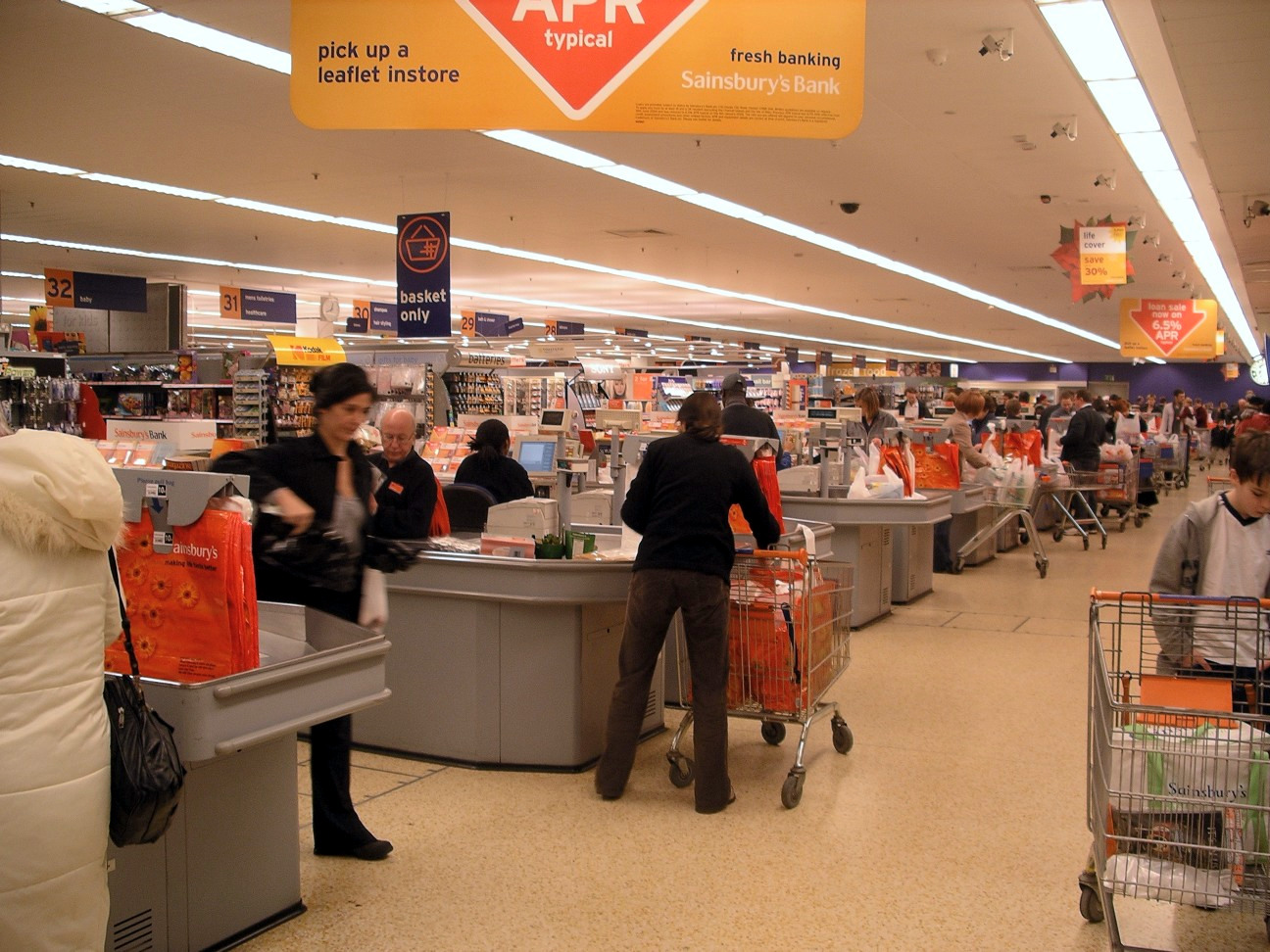Sainsbury's Checkout Line