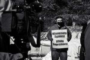 protestor in Minnosota