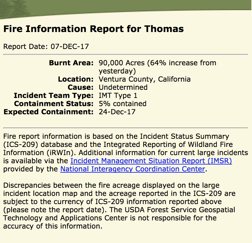 Large Incident Fire Map.Active Fire Mapping Program Geography 250