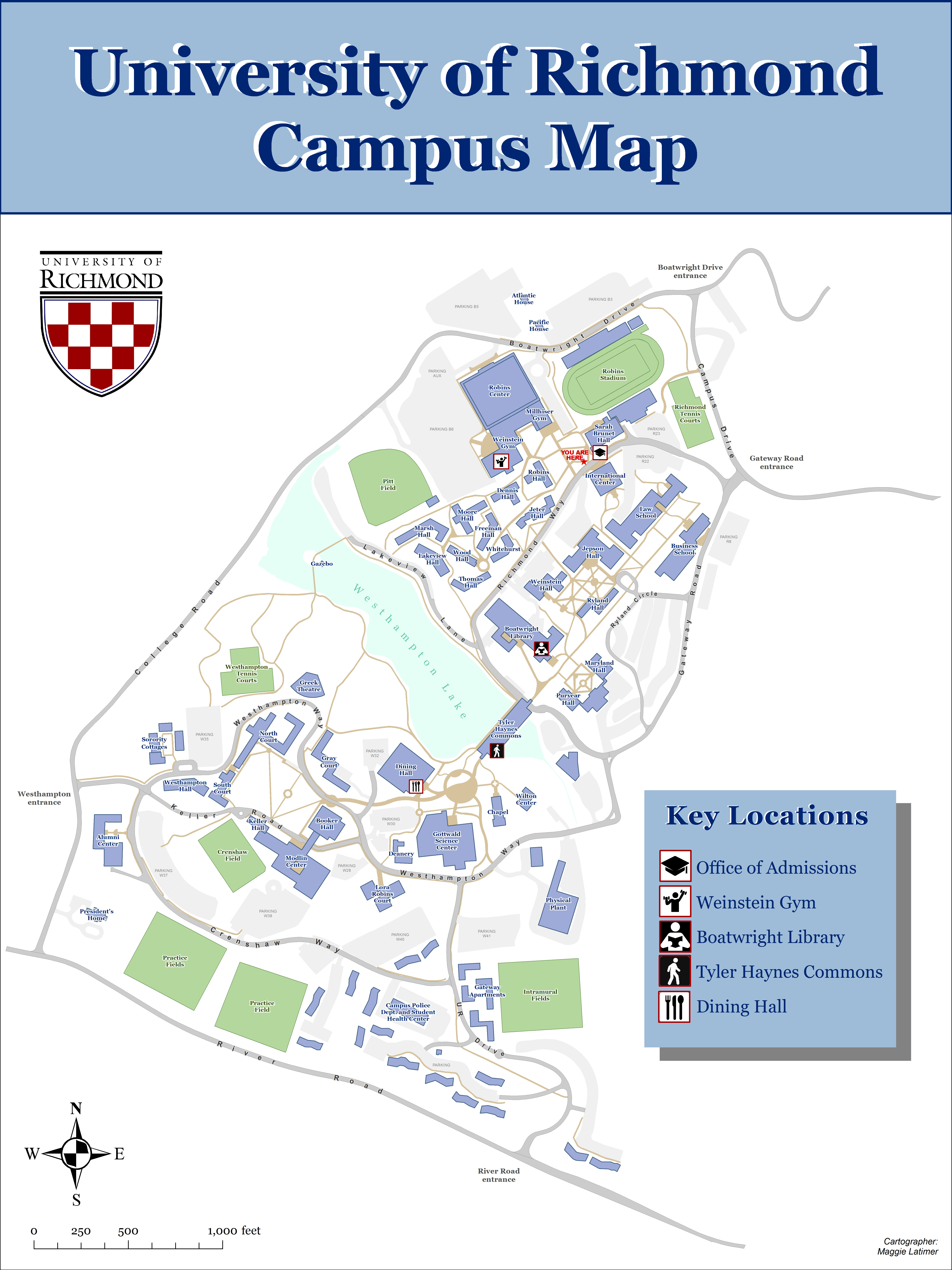 University Of Richmond Map Large Campus Map | Maggie's GeoVisMaps Blog