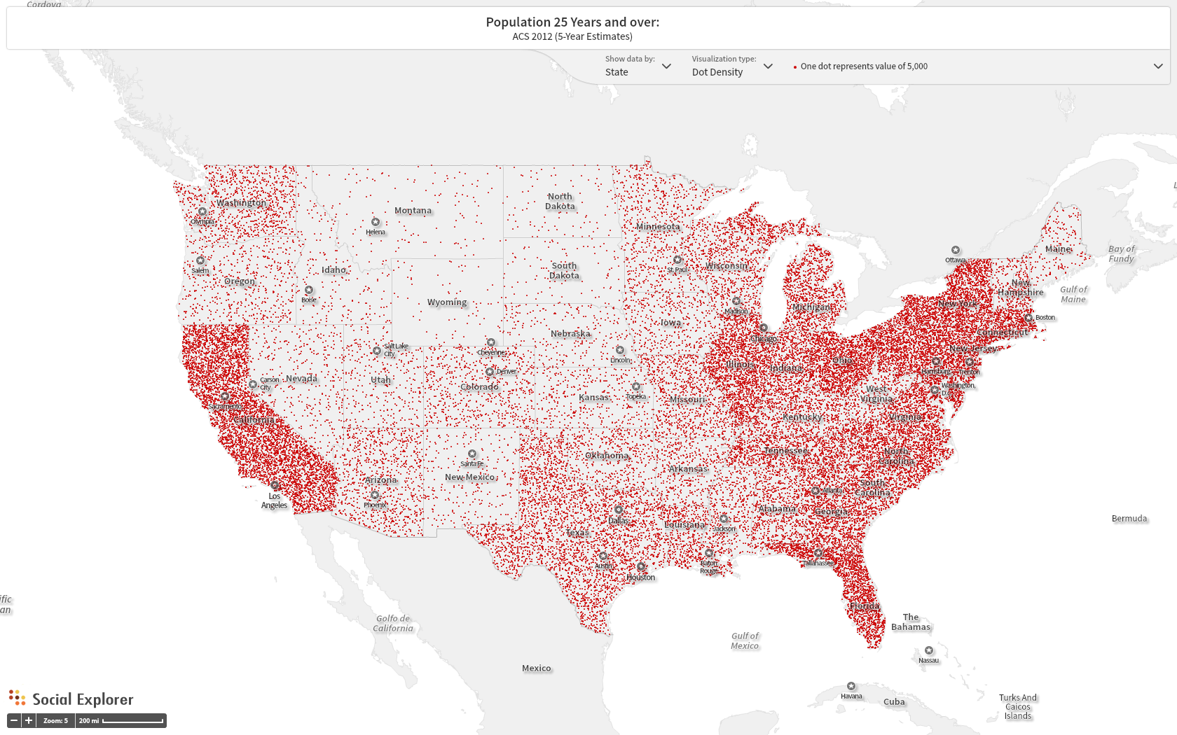 US Population Years And Over Map Thys GeoVisMaps Blog - Population map the us