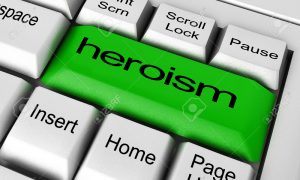 heroism word on keyboard button