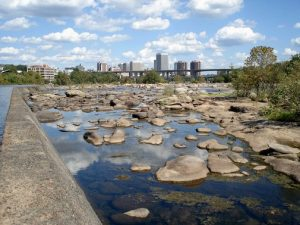 A stretch of concrete along the James at Belle Isle