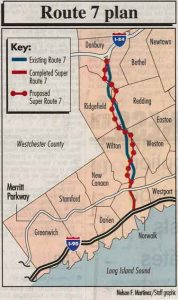 The proposed highway would cut right through the heart of Wilton and its surrounding towns.
