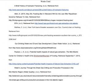 Timeline works cited
