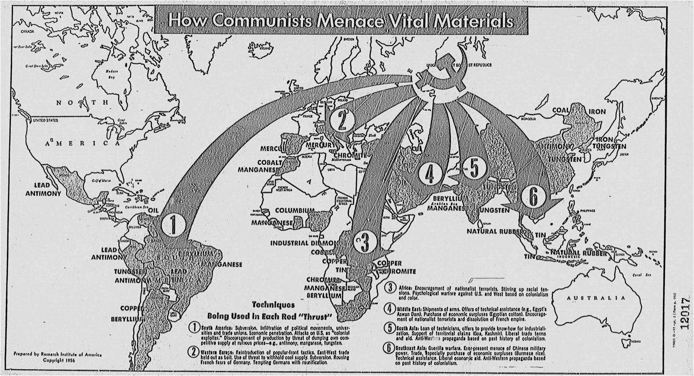 team map presentation october 22 how communists menace vital materials 1956