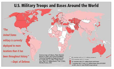 Map Of The Week US Military Troops And Bases Around The World - Map of us troops around the world