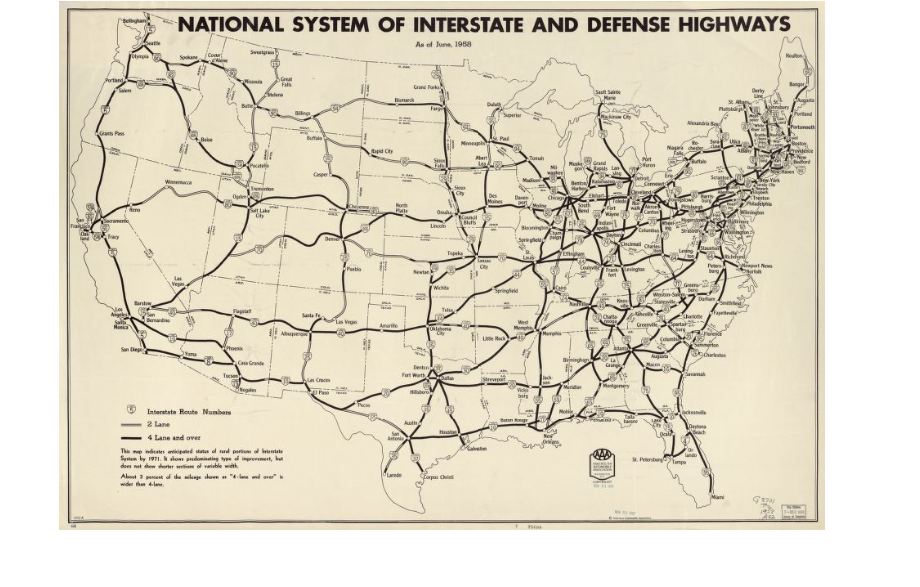 the project could not begin due to ww2 and all resources were focused towards the war the federal aid highway act actually passed in