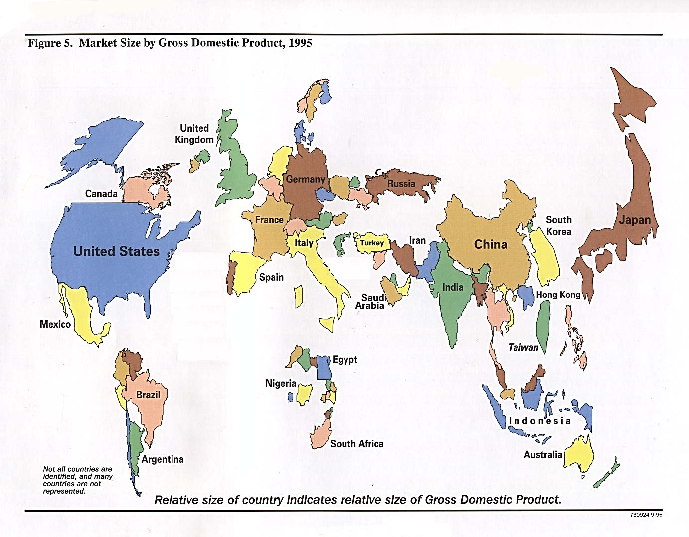 map of the week market size by gross domestic product 1995