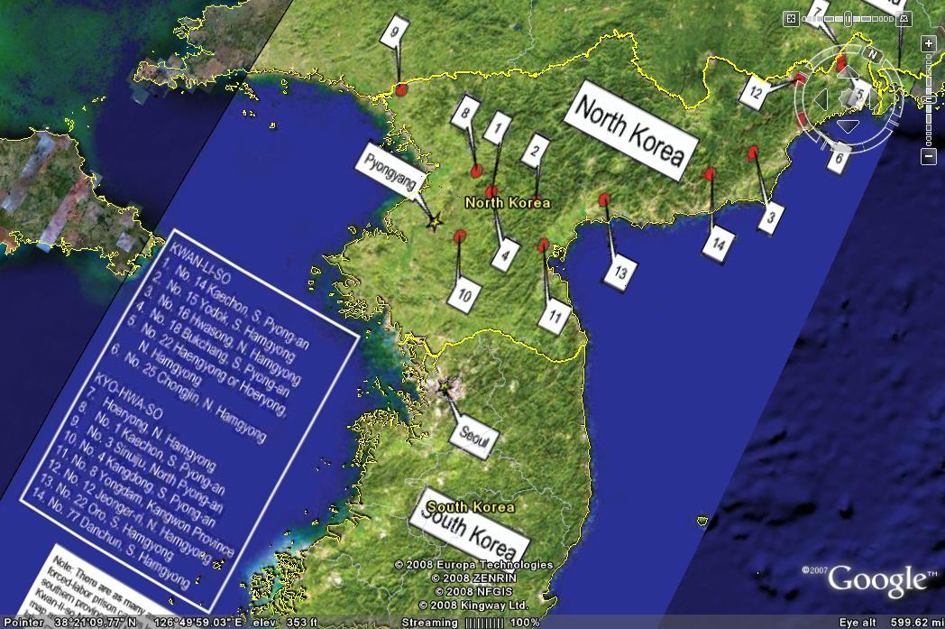 North Korean Prison Camps Map Mappenstance