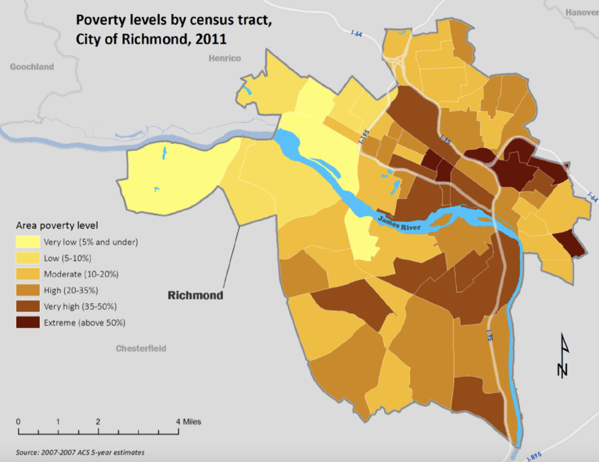 Poverty Levels In Richmond Virginia Mappenstance - Extreme poverty map