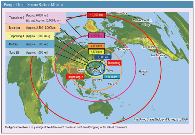North Korean Ballistic Missile Map | Mappenstance.