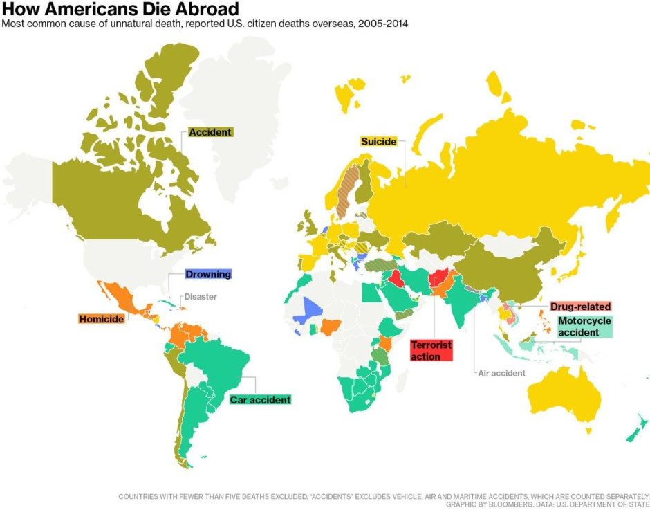Map of the Week: How Americans Die Abroad | Mappenstance.