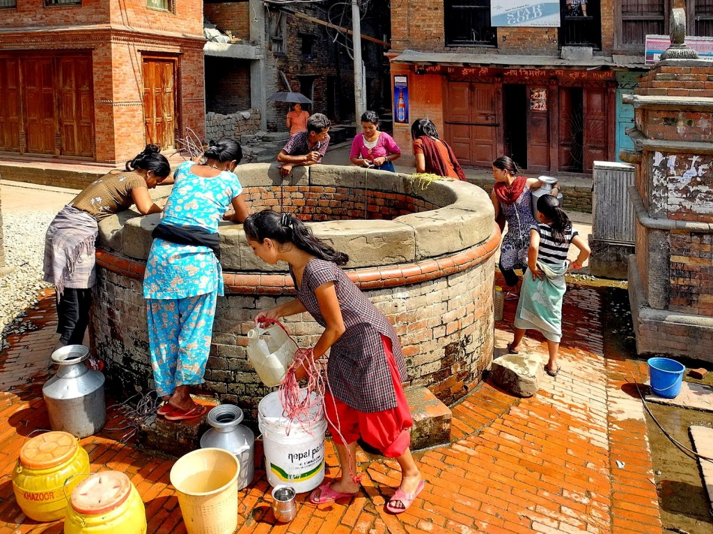 A Nepali well in Bhaktapur.