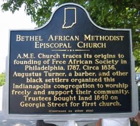 Bethel AME Historical Landmark-Side 1