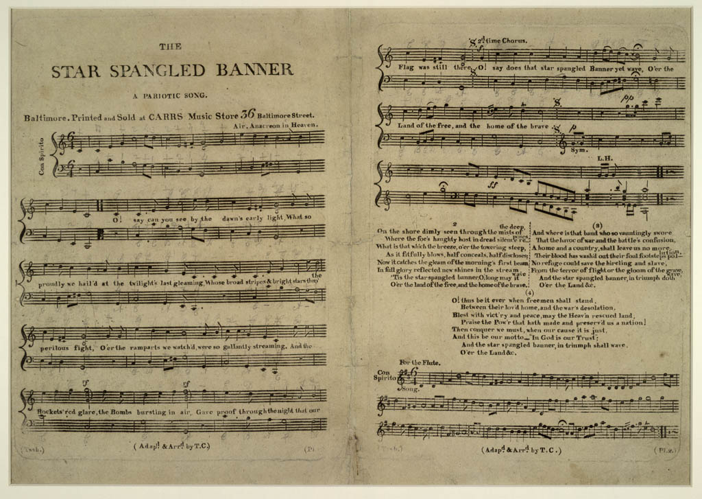 public domain, published in 1814 by Carr's Music Store