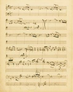 "Working manuscript in Holst's handwriting from ""Beni Mora"""