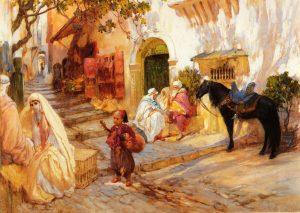 "Frederick Arthur Bridgman - ""A Street Scene In Algeria"""