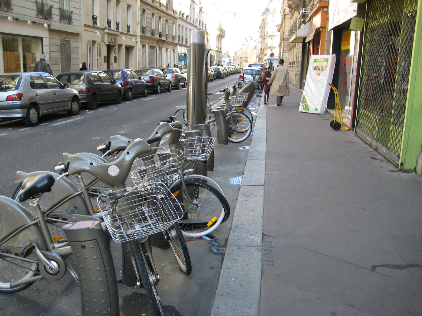 Velib outside my apartment