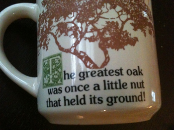 Little nut coffee cup