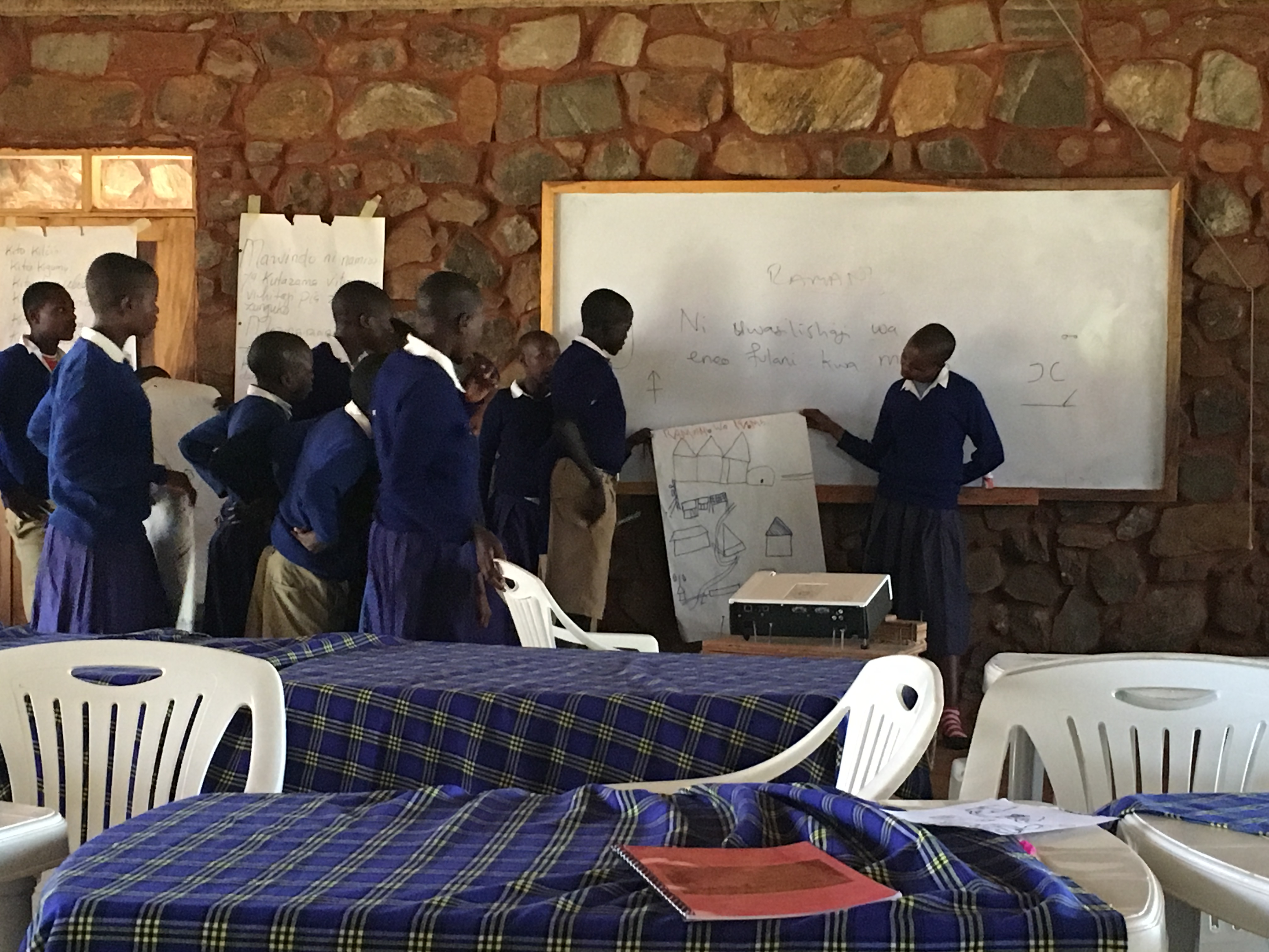 When I first arrived at Noloholo the students were learning to make maps of the villages in order to think spatially and about natural resources in the landscape