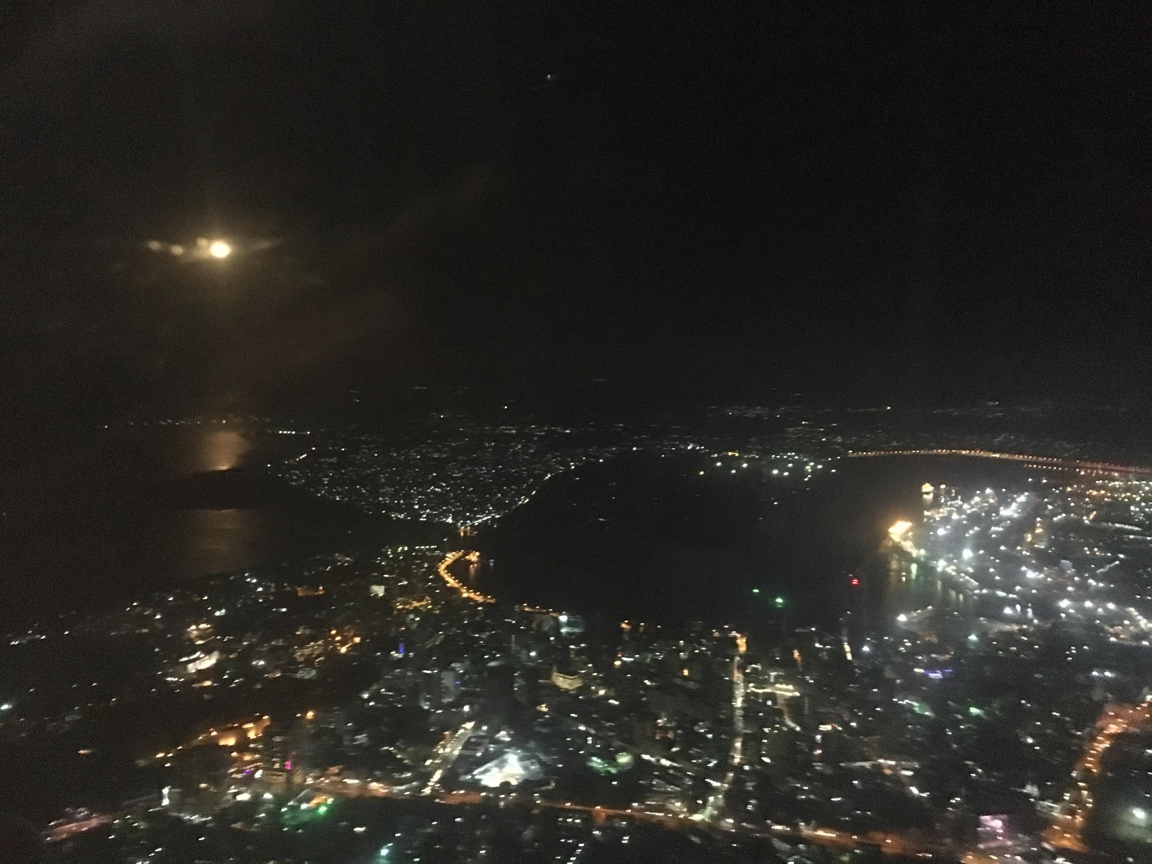 View of Dar at night