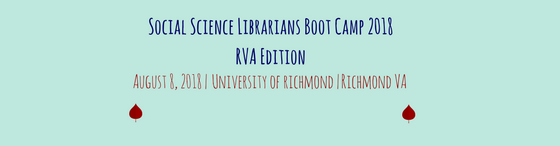 Social Science Librarians Boot Camp RVA