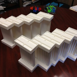 View of the 10 FlyTracks printed for the lab experiment
