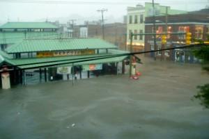 The 17th Street Market flooded during Hurricane Gaston in 2004. Photo courtesy of Ken Weber.