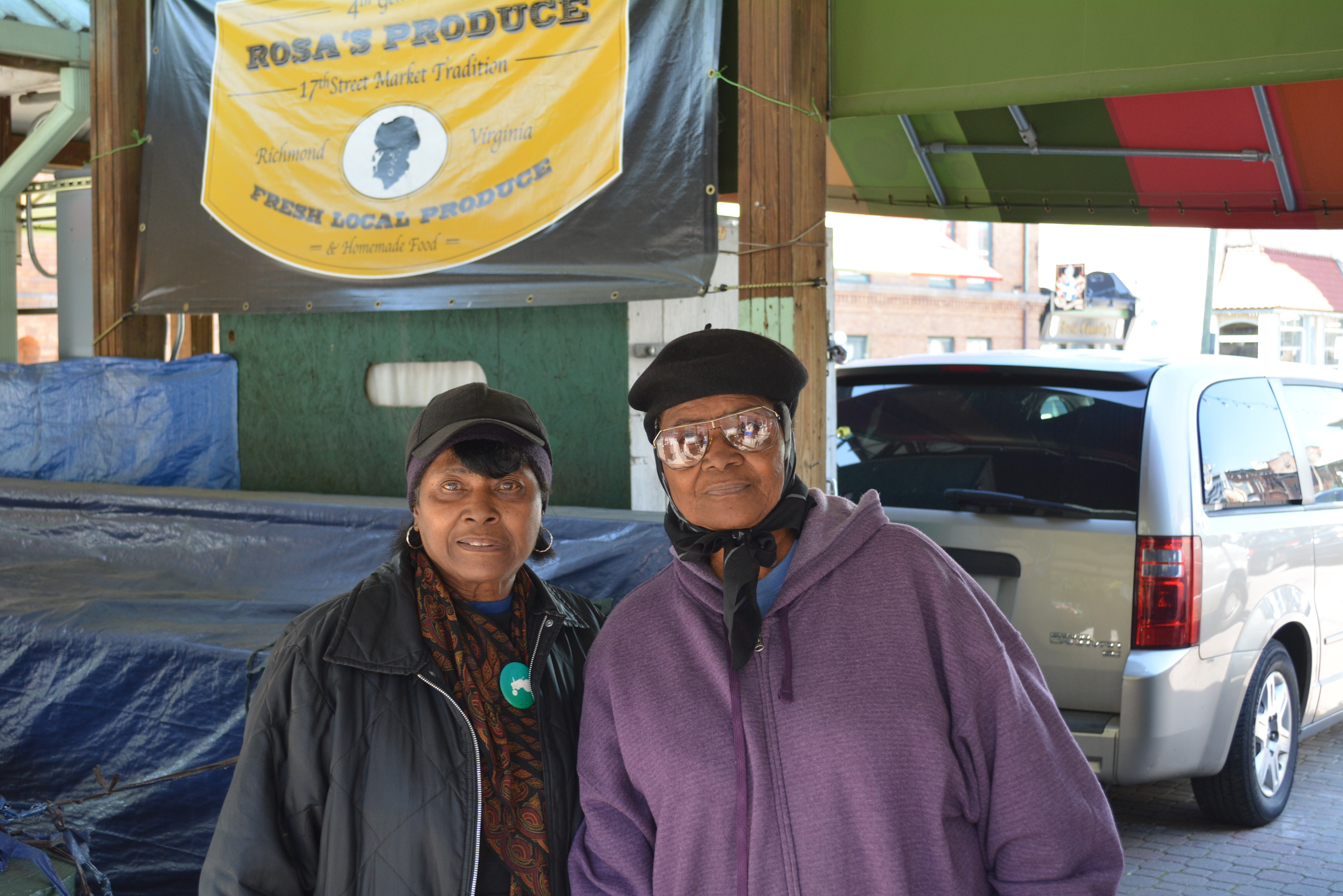 Sisters Rosa Fleming (left) and Evelyn Allen (right) have kept their family legacy alive at the 17th Street Market. Photo by Garrett Fundakowski.