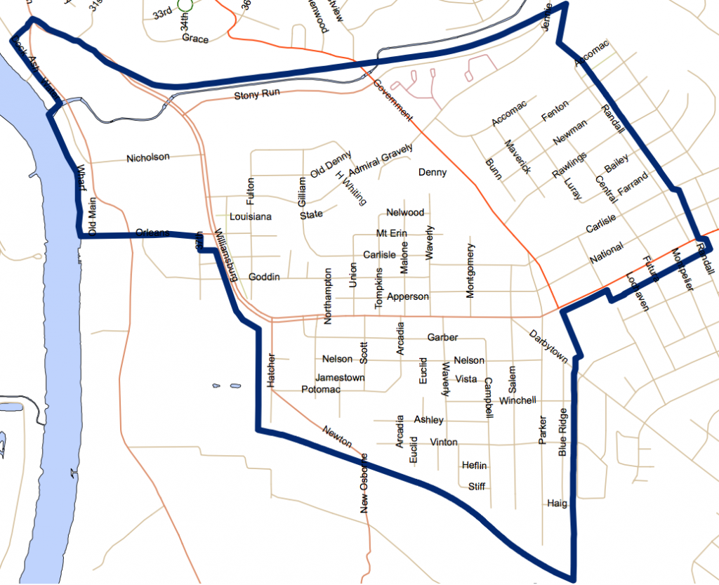Current Map of the Greater Fulton Area