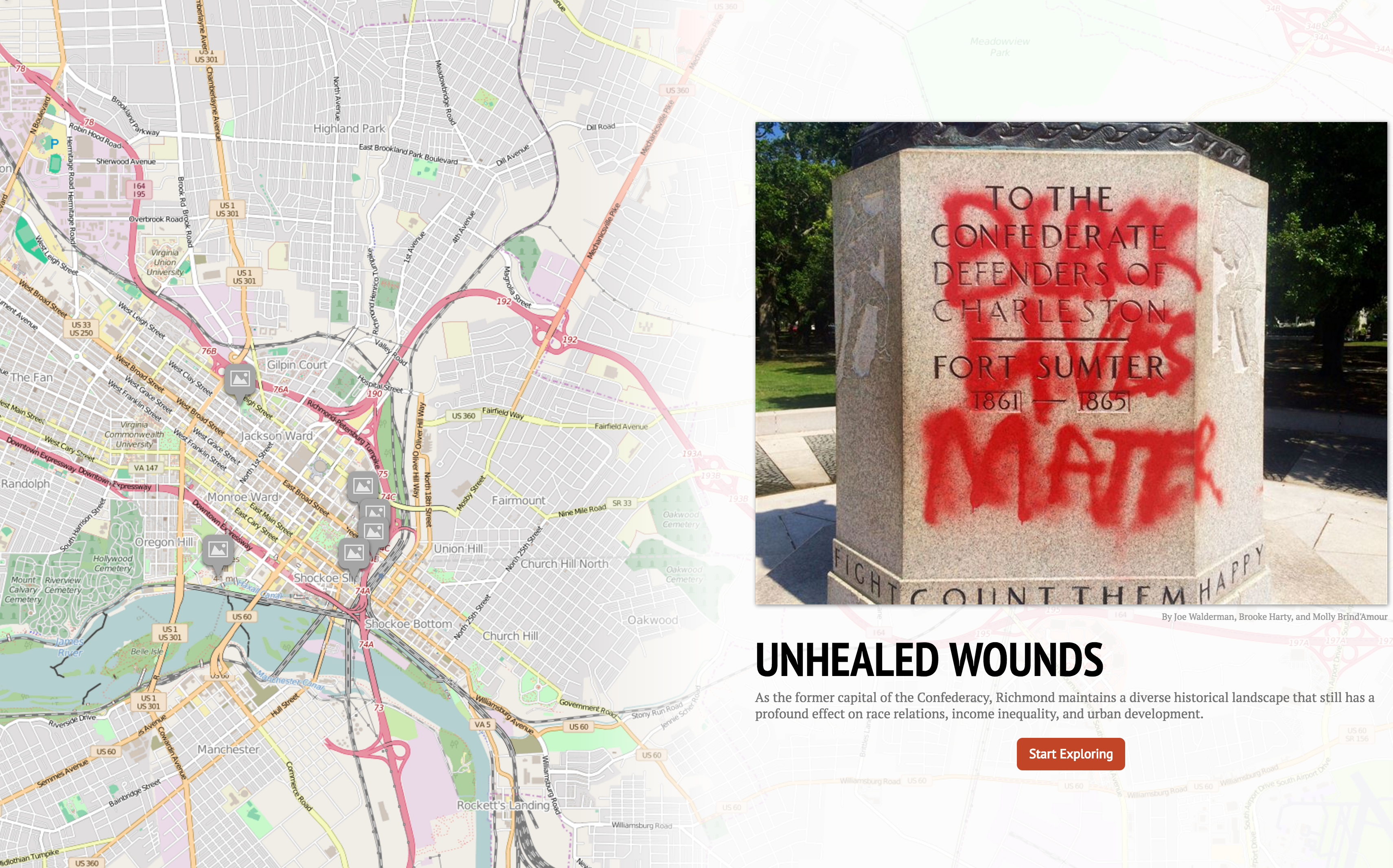 Unhealed Wounds map
