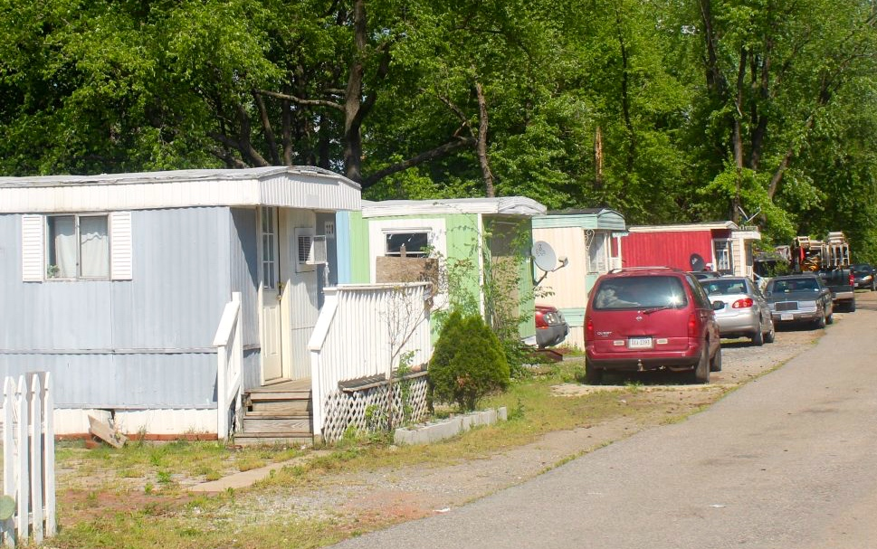 Three streets lined with trailers, some in much better shape than others, comprise Rudd's Trailer Park.